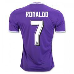 5e2faed5cfd Real Madrid 16-17 Cristiano Ronaldo 7 Udebanetrøje Kort ærmer  Billige  Fodboldtrøjer