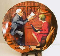 "Norman Rockwell Heritage Collection Plate (1980's) ~ ""The Professor""."