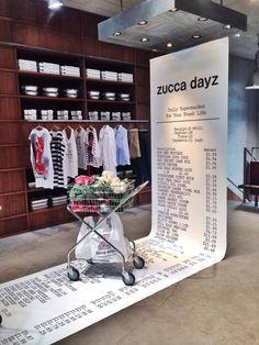 zucca dayz - daily supermarket of your fresh life - Japan - retail display Stand Design, Display Design, Design Shop, Visual Merchandising Displays, Visual Display, Exhibition Display, Exhibition Space, Vitrine Design, Merci Paris