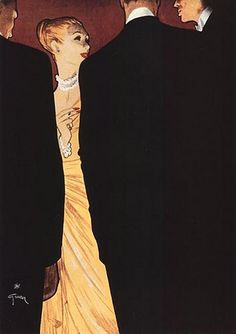 Rene Gruau, Illustrator extraordinaire literally made my heart race the first time I saw his work in the Negresco in Nice. Post two men defined French fashion, Christian Dior and his illustrator Rene Gruau, The New Look was born. Rene Gruau, Tilly And The Buttons, Jacques Fath, Christian Dior Couture, Mode Vintage, Grafik Design, Art And Illustration, Illustration Techniques, Portrait Illustration