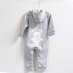 7d49100c9 Rabbit Hooded Long Sleeve Jumpsuit. Romper SuitJumpsuit OutfitPersonalized  Gift BagsLong Sleeve RomperBaby Boy ...