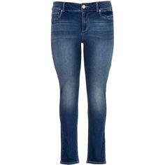 maurices Plus Size - Denim Flex ™ Supersoft Dark Wash Jegging ($39) ❤ liked on Polyvore featuring pants, leggings, jeans, bottoms, dark sandblast, plus size, slimming leggings, plus size pants, zipper leggings and plus size jean leggings