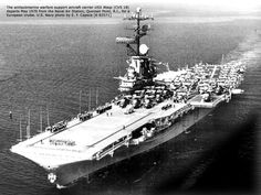 USS Wasp CV-18   the carrier welcomed the year 1970 moored in her home port of quonset ...