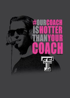 Our Coach Is Hotter Grey Long Sleeve Tee - Red Raider Outfitters. (If anyone wants to get me a Christmas present, look no further, my friends...)