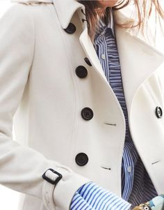 I love this classic, crisp look! burberry.com