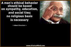Ethical behaviour needs no religious basis