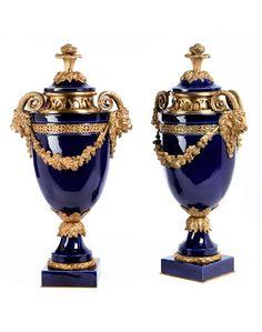 Villeroy and Boch porcelain vases.