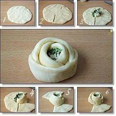 Mayalı hamurdan gül poğaça,günümde yapmak istiyorum