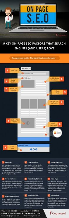 9 factores clave del SEO On Page #infografia #infographic #seo