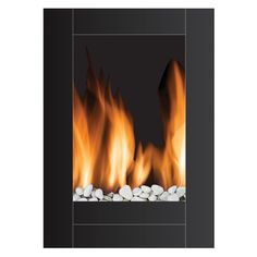 Have to have it. Frigidaire Monaco Vertical Wall-Mounted LED Fireplace with Remote Control - $299 @hayneedle