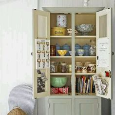 Book case - use for kitchen items and recipe books