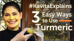 Welcome to our series #KavitaExplains. Today we're going to chat about our favorite spice – turmeric! Turmeric is known to have anti septic and anti inflammatory properties. It's good for your health and your skin and your hair. Here are a few interesting ways to use this spice in your everyday life