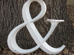 Need this for Engagement and Wedding Photography -- Ampersand/ Wedding Sign/ AND Symbol Sign/ Wall Letter/ Wedding Photo Booth Prop/Distressed Antique White. $24.99, via Etsy.