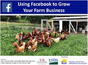 "If you're interested in learning how Facebook can help you market your ag business, don't miss ATTRA's new webinar, ""Using Facebook to Grow Your Farm Business"" ! #ATTRA #NCAT #sustainableagriculture"