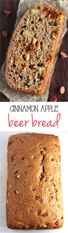 Cinnamon Apple Beer Bread -- a sweet & healthier spin on a classic!