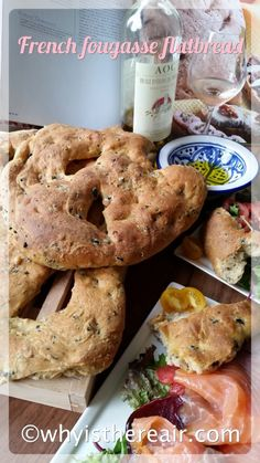 Savoury fougasse flatbread is perfect for your picnics, with wines or with dinner 10 g fresh yeast 300 g semi-skimmed milk 100 g wholemeal flour 400 g plain flour (no need to use bread flour) 40 g olive oil ½ tsp. sea salt 70 g pitted black olives 70 g pitted green olives 100 g bacon lardons or Pancetta cubes 1 tsp. olive oil, to glaze