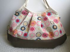 Cotton/Linen Multi-flower Japanese fabric bag
