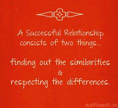 Romantic Quote ~ Successful Relationship http://myshaadi.in?utm_source=pinterest_medium=website_campaign=pin