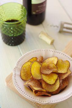 Cinco Quartos de Laranja: Chips de batata-doce com açúcar e canela