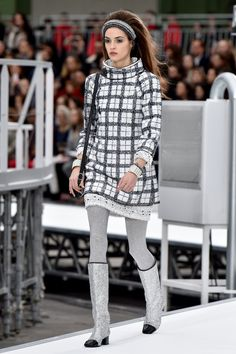 See all the looks from Chanel's AW17 ready to wear collection presented at Paris Fashion Week.