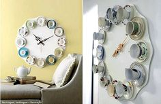 How to make a Tea Cup inspired Wall Clock #diy #howto #wall #clock