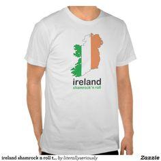 ireland shamrock n roll tee