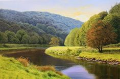 Michael James Smith, Signed limited edition print, Evening in the Wye Valley