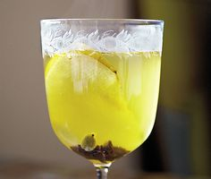 Mulled White Wine with Pear Brandy