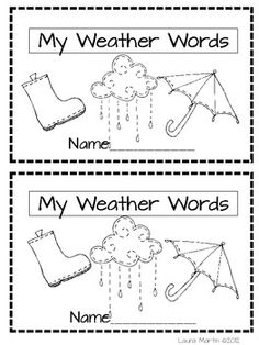 My Book About the Weather! | Free printable and Weather