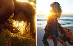 Image on the left is from an old Bergdorf story, and image on the right I think is Enrique Badulescu.  Just beautiful lighting, and love the flowing dress.