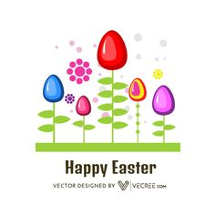 Vector Free Download, Free Vector Graphics, Backgrounds Free, White Flats, Vector Design, Happy Easter, Easter Eggs, Happy Easter Day