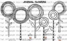 INSTANT DOWNLOAD Journal Flowers Digital Stamps