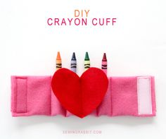 DIY Crayon Cuff by @mesewcrazy | Double Click for Cuff Tutorial at @joannstores