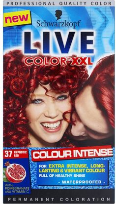 Schwarzkopf Live XXL Colour Intense - Hypnotic Red for only For those who want to be noticed! Hair Colours 2014, Live Colour Xxl, Schwarzkopf Live Colour, Spring Hairstyles, Health And Beauty, Vibrant Colors, Hair Color, Skin Care, Red