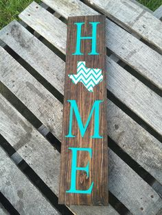 Home sings with chevron state of choice great by BLUelphantdesigns