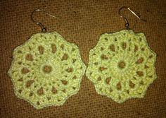 orecchini all'uncinetto (schema gratuito) - crocheted earrings