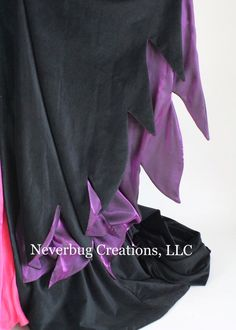 Items similar to Maleficent Costume (Animated Version) on Etsy Malificent Costume Diy, Purple Fabric, Cotton Velvet, Diy Costumes, Black Cotton, Etsy, Baby Car Seats, Pink, Animation