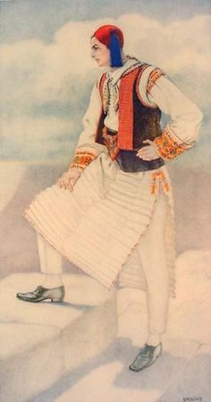 #72 - Man's Dress (Aegean Islands, Chios, Pyrghi) Greek Traditional Dress, Traditional Outfits, Chios, Ancient Greek Costumes, Greek Dress, Greek Men, Tribal Dance, Greek Culture, Costume Collection