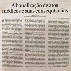 Excelente texto escrito pelo Dr Gabriel Gontijo presidente da Sociedade Brasileira de Dermatologia para o Correio Braziliense. Recomendo a leitura! Postei também no face onde dá pra ler melhor! #defesamédica #dermatologia #saudeemjogo #protejase #atomedico #estetica #brasilia #cuidadoscomapele #alerta