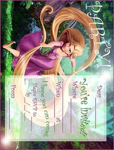 FREE Tangled printable invite