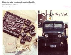 Gluten free fudge brownies, with love from Brooklyn - Passion For Baking :::GET INSPIRED::: Cookie Brownie Bars, Fudge Brownies, Love Chocolate, Chocolate Cake, Delicious Desserts, Dessert Recipes, Gluten Free Brownies, Gluten Free Baking, Blondies