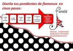 Diseña tu pendientes de flamenca en cinco pasos  Desing yourself your flamenco earrings in five steps
