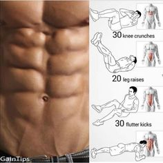 No-Equipment Ab Exercises - Body Sixpack Workout Plan Best Abs - Yeah We Train ! Fitness Workouts, Fitness Motivation, Gym Workout Tips, Abs Workout Routines, Weight Training Workouts, Fun Workouts, At Home Workouts, Workout Plans, Fitness Diet