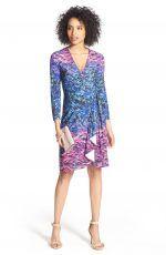 One Stop Dress Up – BCBG Adele Watercolor Print Wrap Dress