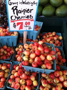 Rainier Cherries - The best cherries! I first had them when I was at Pikes Market in Seattle, Washington when I was a child.