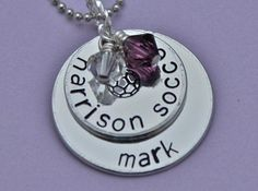 Soccer Necklace Deluxe Hand Stamped