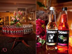 Jones soda wedding favors his n hers with both on the photo
