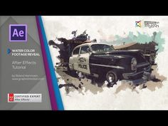 This After Effects tutorial shows you how to create an artistic watercolor style footage reveal. Amazing videos for Artist on PaintintTube, take a look! Adobe After Effects Tutorials, Effects Photoshop, Video Effects, Motion Design, Vfx Tutorial, Cinema 4d Tutorial, Graphic Design Tutorials, Web Design, Cgi