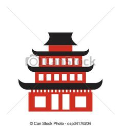 Vector - Pagoda flat icon - stock illustration, royalty free illustrations, stock clip art icon, stock clipart icons, logo, line art, EPS picture, pictures, graphic, graphics, drawing, drawings, vector image, artwork, EPS vector art