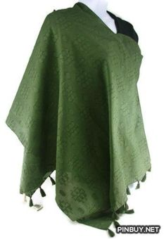 Collection 18 XIIX Eighteen Women's Raised Geo Print Solid Wrap Shawl Fashion Scarf Accessory (Army Green) Collection XIIX - Army Girl